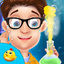 Science experiment with water icon