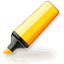 Yellow highlighter for web icon