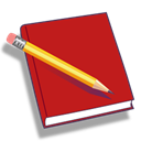 Red notebook icon