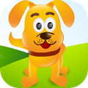 Cute dog puzzles icon