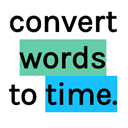 Words to time icon