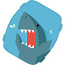 Vegetables sharks icon