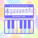 Piano notes fun icon