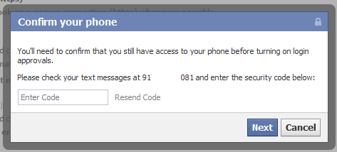 confirm-phone-entering-verification-code facebook