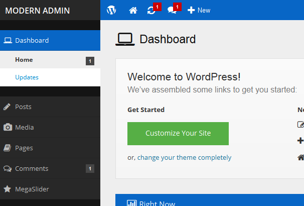 Modern Admin-Flat WordPress Admin Theme Plugins