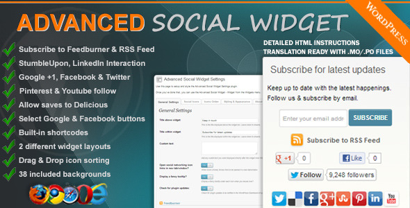 Social Media Widget for WordPress Sidebar0
