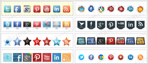 Social Media Widget for WordPress Sidebar6