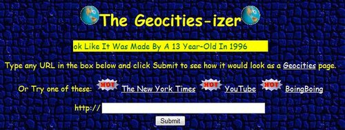 The Geocities-izer