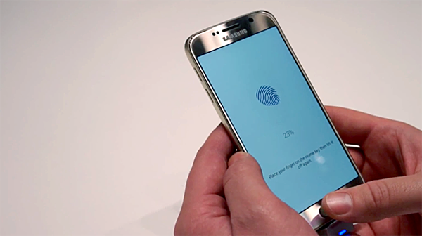 samsung-galaxy-S6 thumb scanner