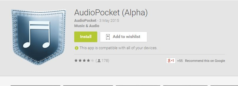 AUDIOPOCKET - LISTEN TO MUSIC FROM YOUTUBE EASILY
