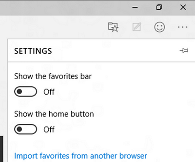 Microsoft Edge Browser Gets A New Home Button, Means To Import Favorites