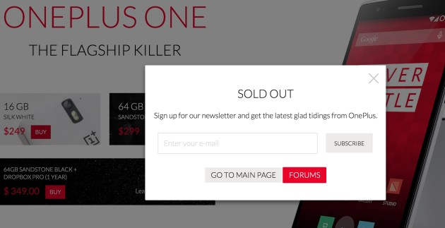 OnePlus 2 release incoming as No more OnePlus One left!
