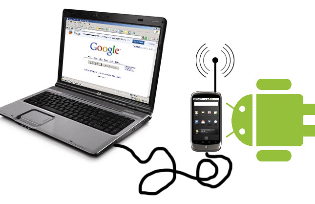 How to connect PC internet to mobile via usb