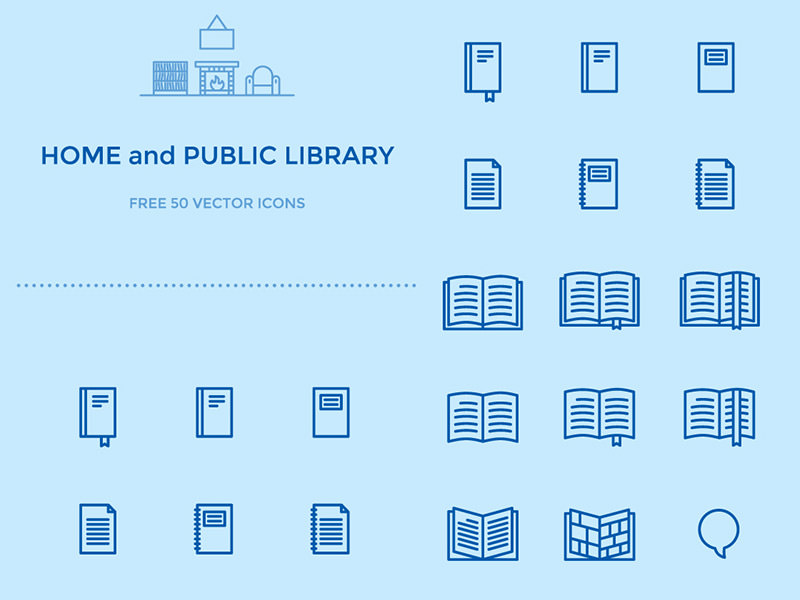50 Library Icons