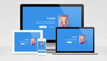 Fractal: Singal-Page Responsive HTML5 Template