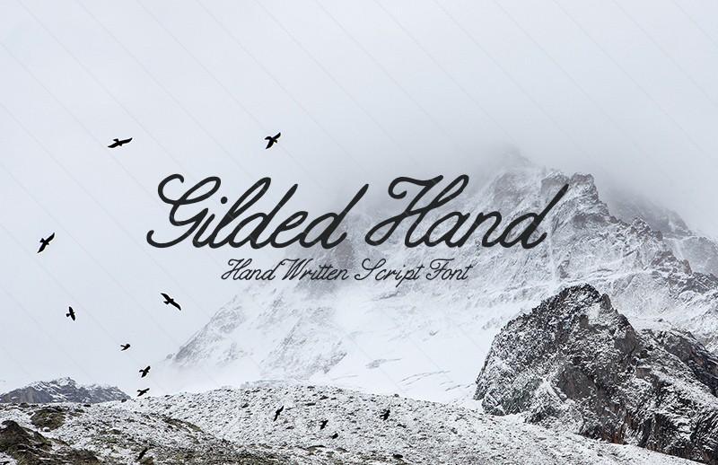 Gilded Hand: Handwritten Script Font