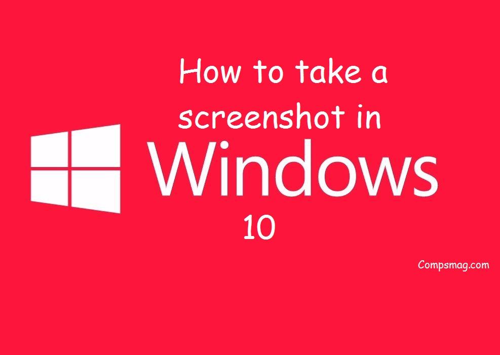 how to cut screenshot on windows 10