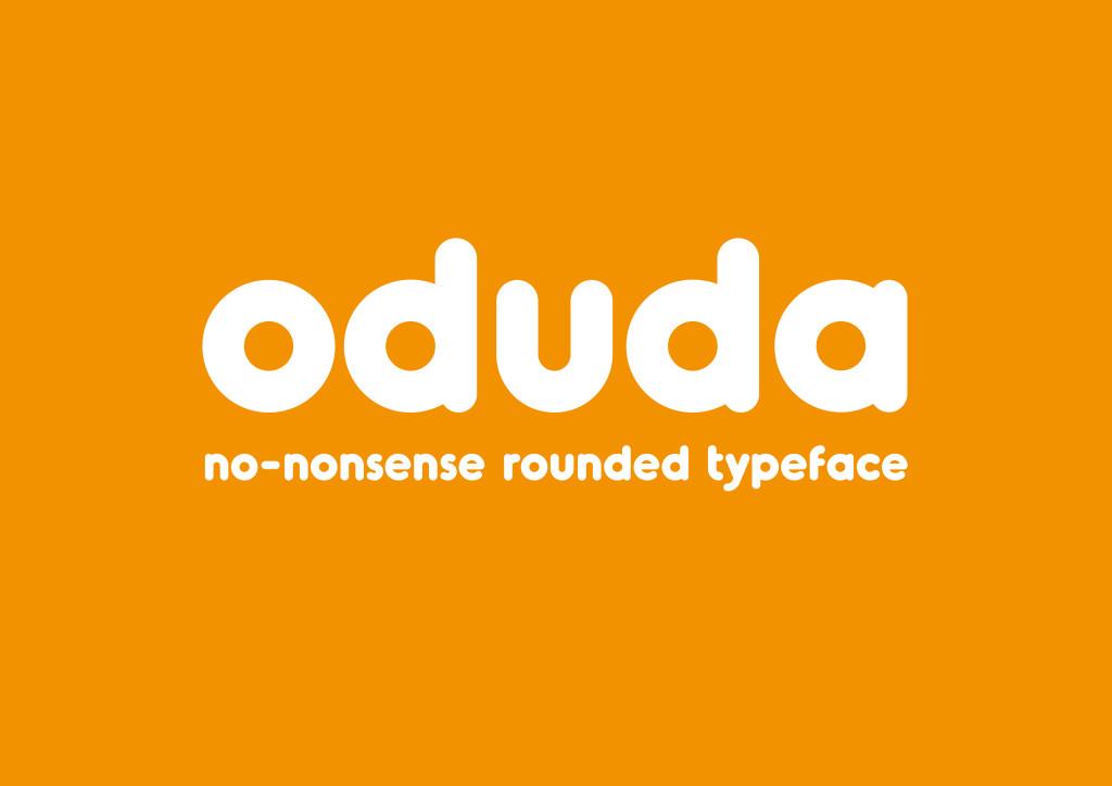 ODUDA: Rounded Bold Typeface
