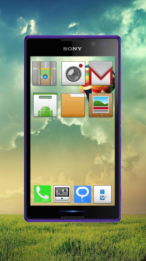 Transparent screen 3D launcher