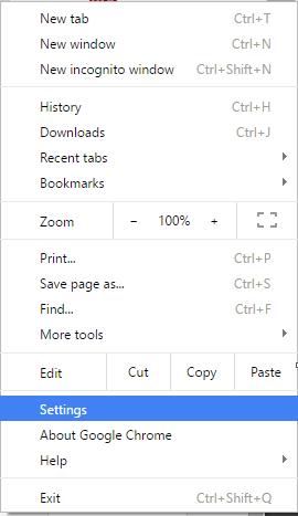 select setting option