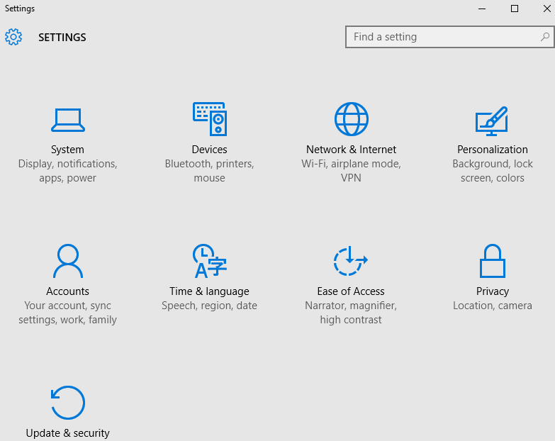 press Window +I to open the Settings and click on the System