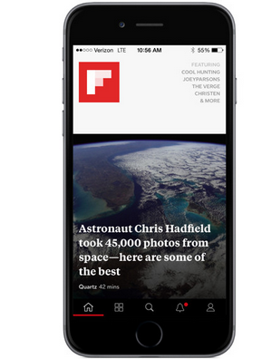 How to increase font size in Flipboard on iOS