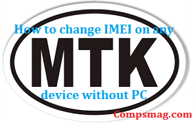 How to change IMEI on any MTK device without PC