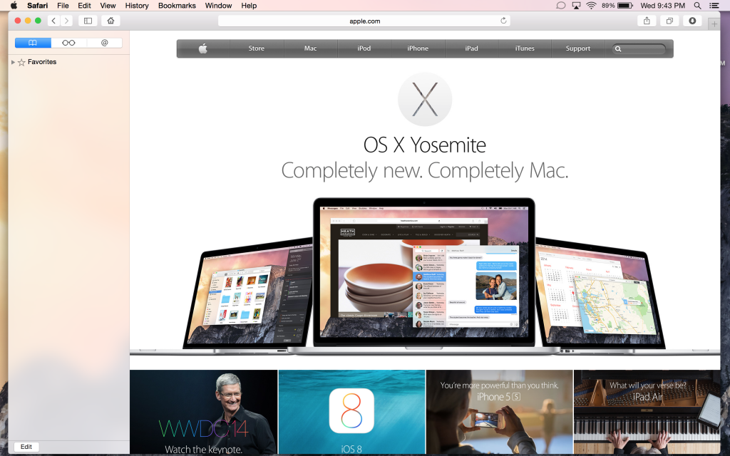How to enable private browsing in safari on mac OS X Yosemite