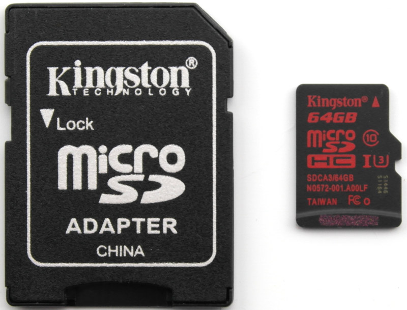 Kingston 64 GB UHS-I U3 microSDHC Memory Card