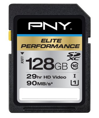 PNY Elite Performance 128GB UHS-1 SDHC Flash Card