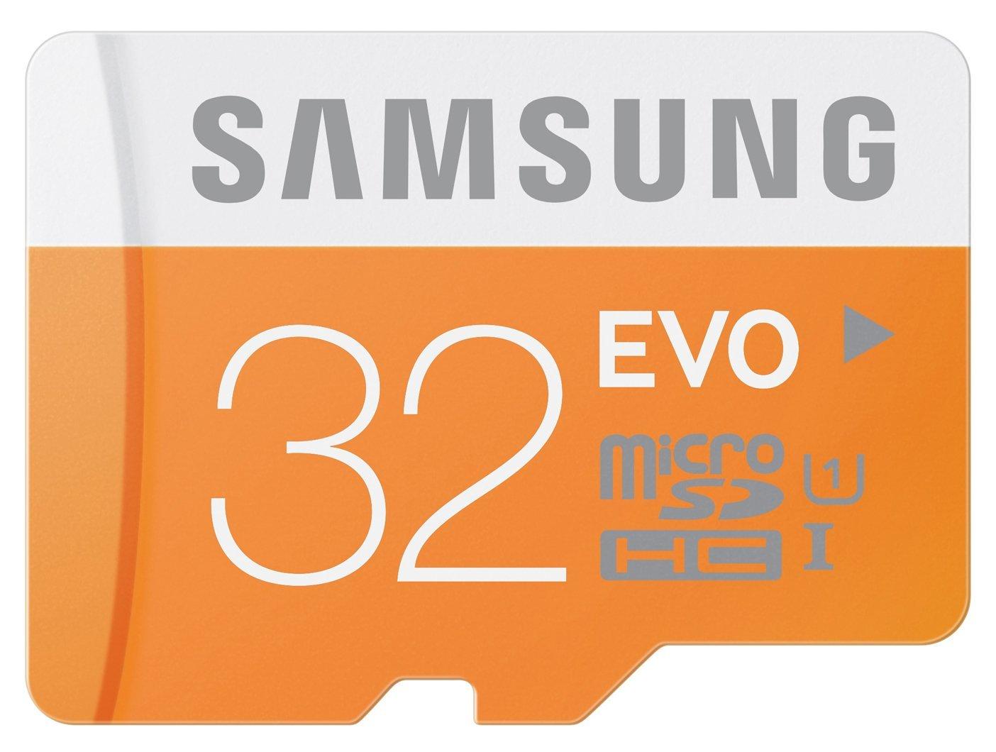 Samsung 32GB EVO Micro SDHC Memory Card