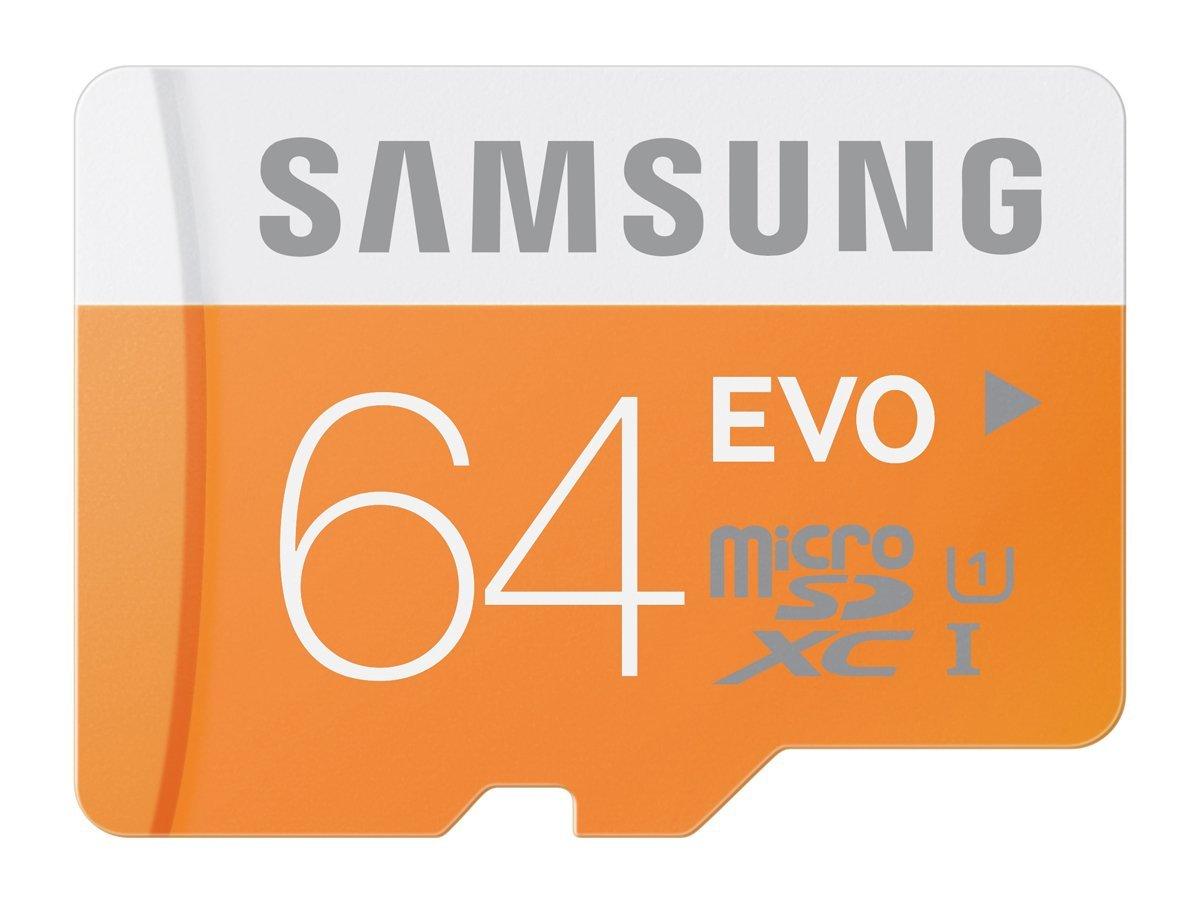 Samsung 64GB EVO Micro SDHC Memory Card