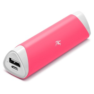 Sentey Power Bank 2800mAh Pink Lipstick-sized Brio