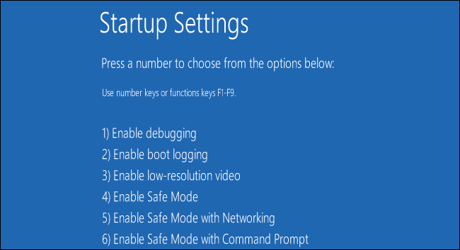 How to enable safe mode boot menu in Windows 10