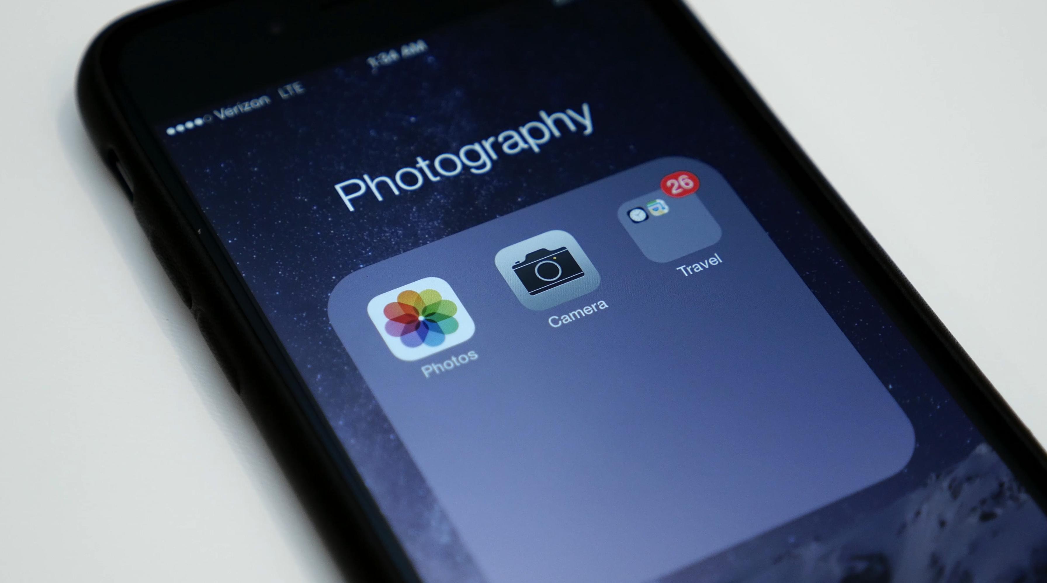 Как сделать папки для фото в айфон