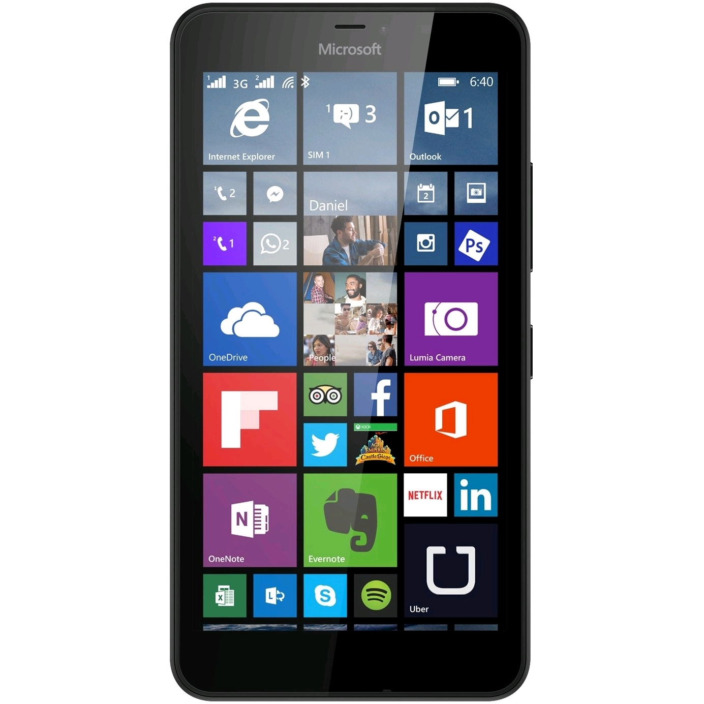 Microsoft Lumia 640 XL LTE display
