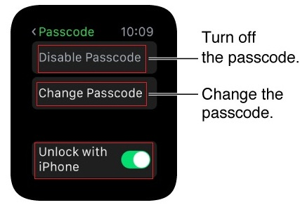 How to turn off passcode on Apple watch from iPhone