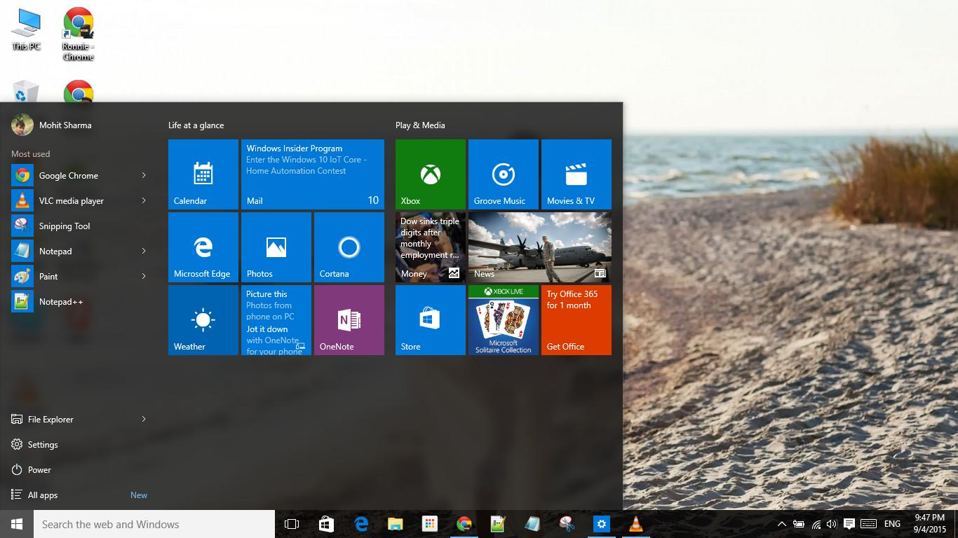 How to make Windows 10 taskbar fully transparent