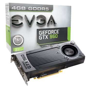 EVGA GeForce GTX 960 4GB GAMING, Silent Cooling Graphics Cards 04G-P4-3960-KR