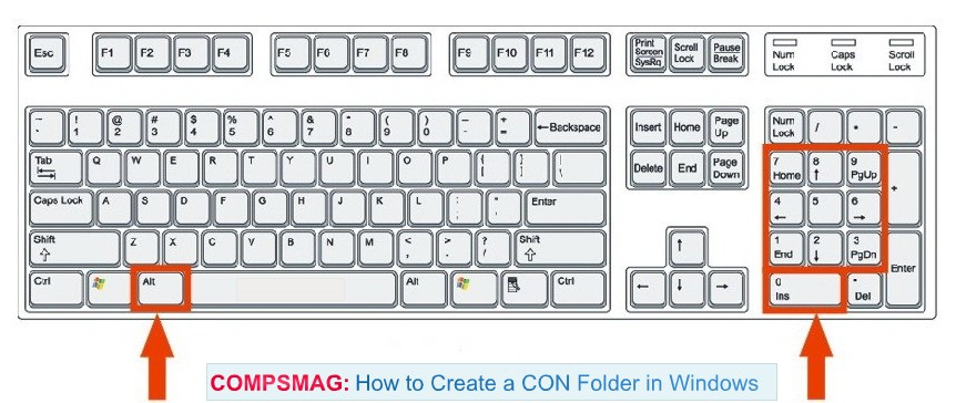 How to Create a CON Folder in Windows