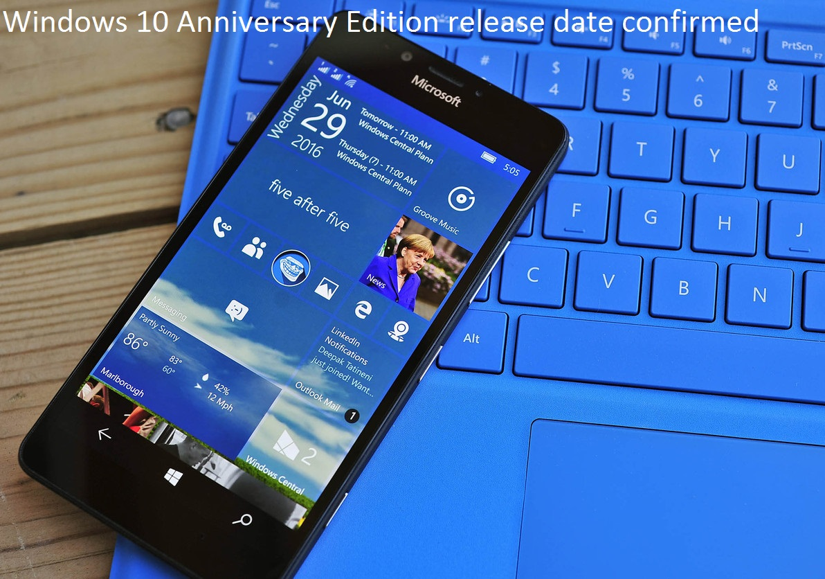 Windows 10 Anniversary Edition Release Date