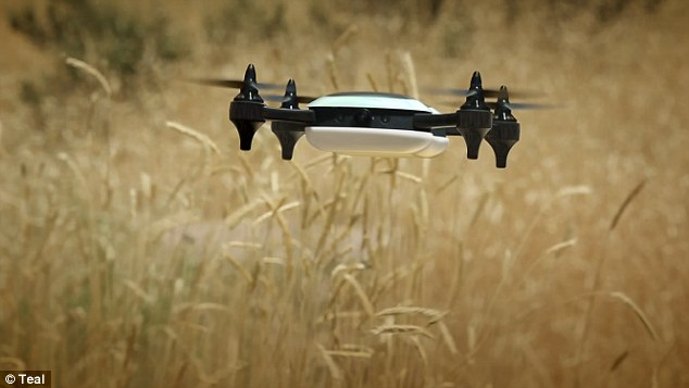 teal drone
