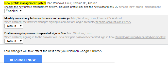 lock Google Chrome profile with password