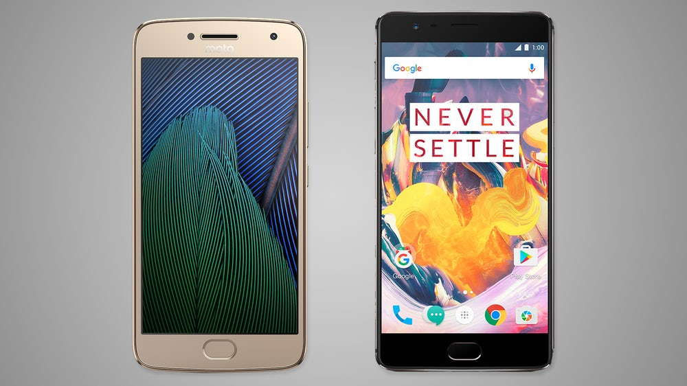 moto g5 plus VS OnePlus 3T