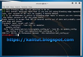 Permission denied: '/etc/setoolkit/set_config.py