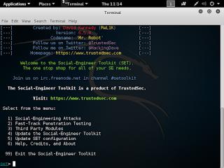 Social engineering toolkit