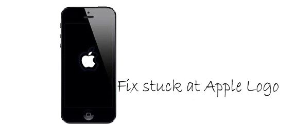 how to fix apple logo stuck on iphone
