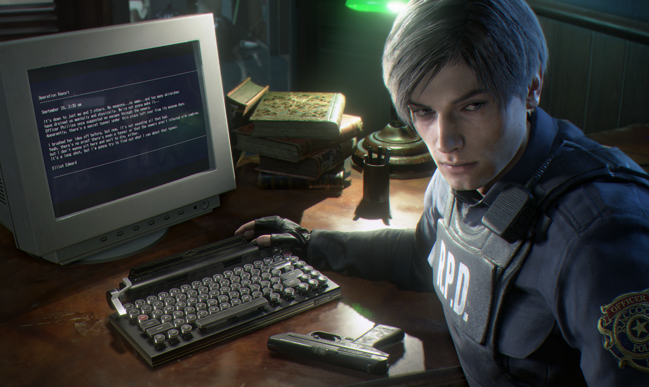 Resident Evil 2 Remake Gets A Typewriter Keyboard