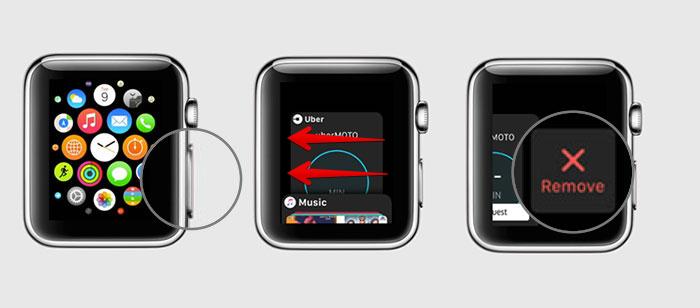 Force leaving an app on Apple Watch