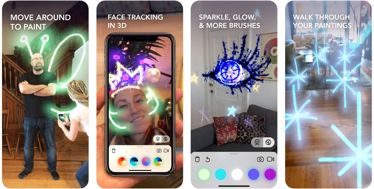 In the list of our iOS 12 ar applications, you can capture the lightspace screen.